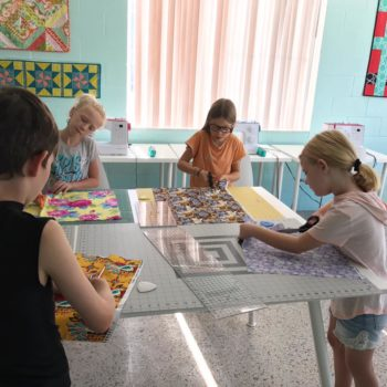 sewing with kids at the sewing coop
