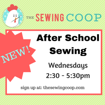 after school sewing for kids at the sewing coop