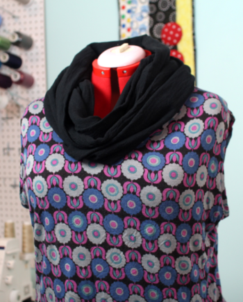 infinity scarf class at the sewing coop