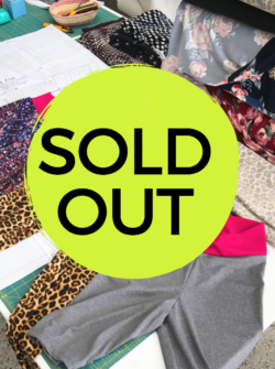 leggings sold out class at the sewing coop
