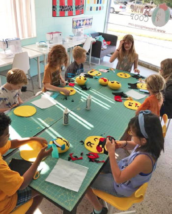 kids camp at the sewing coop