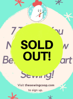 sold out sewing lecture