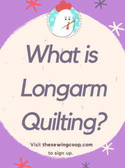 lecture on longarm quilting at the sewing coop with crafty gemini