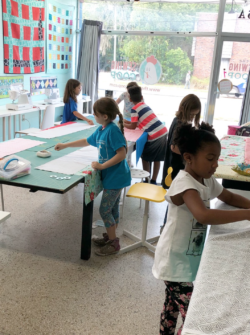 kids sewing class at the sewing coop