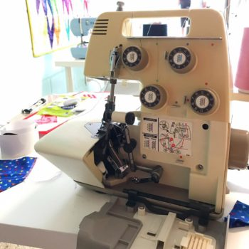 serger class at the sewing coop
