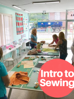 intro to sewing for adults class at the sewing coop