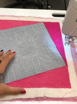 intro to free motion quilting class at the sewing coop