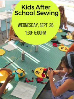 after school sewing at the sewing coop