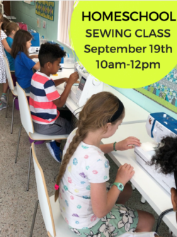 homeschool sewing classes for kids at the sewing coop in gainesville fl